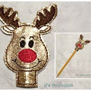Reindeer Face Pencil Topper