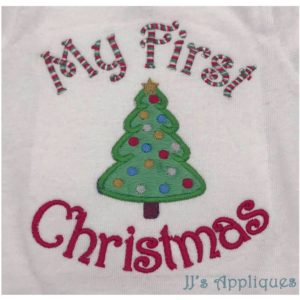My First Christmas Tree Applique