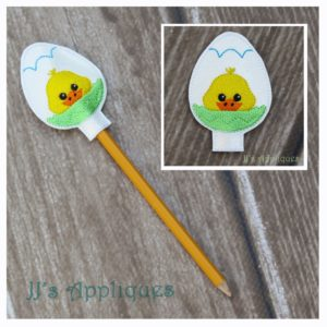 Easter Chick in Egg Pencil Topper