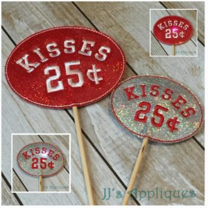 Flashing Kisses .25 Cents Wand