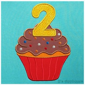 Cupcake with 2