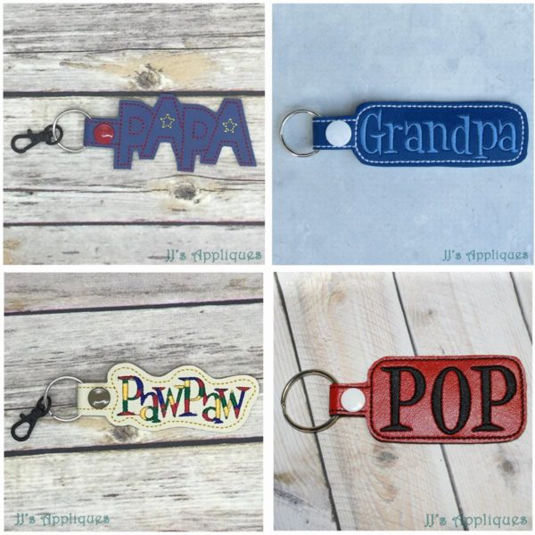 Grandfather Set of 4 Key Fobs