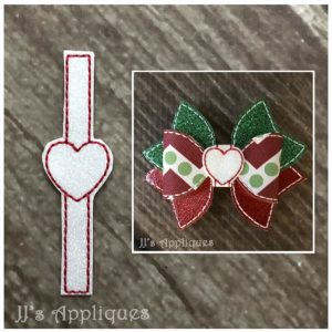 Heart Bow Center Tie