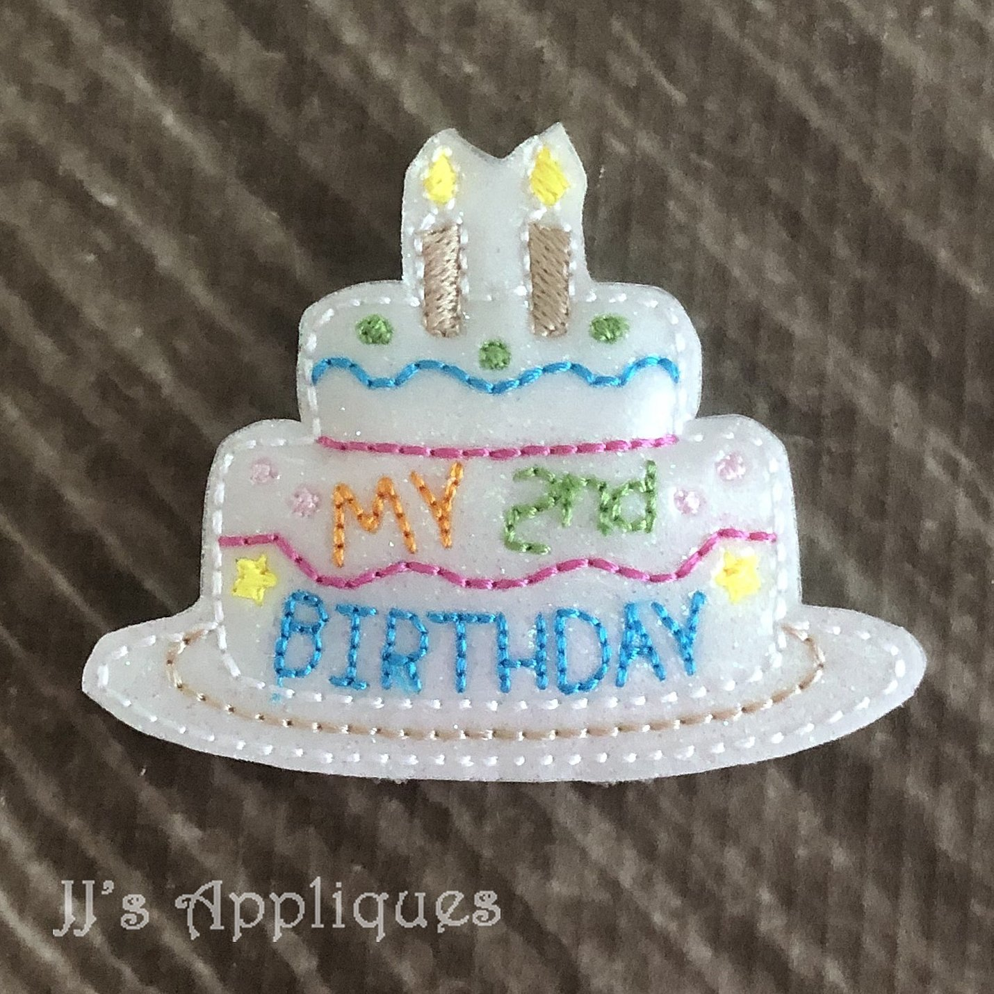 Magnificent Flashing My 2Nd Birthday Cake Feltie Funny Birthday Cards Online Inifodamsfinfo